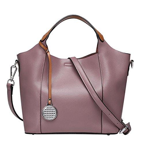 Sacchetto Di Spalla Di Modo Borsa Di Cuoio Delle Donne Pacchetto Diagonale Purple