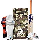 Spartan MS Dhoni Kashmir-Willow Cricket Combo Kit