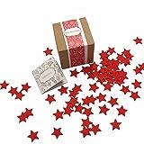 Paperblooms Geschenkbox 'Blühende Konfetti Sterne', rot, Die kreative Geschenkidee für Weihnachten als Weihnachtsgeschenk oder Geschenk für Geburtstag, Hochzeit