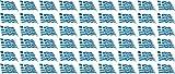 Mini Aufkleber Set - Pack wehend - 20x12mm - selbstklebender Sticker - Fahne - Griechenland - Flagge / Banner / Standarte fürs Auto, Büro, zu Hause und die Schule - 54 Stück