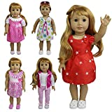 ZITA ELEMENT 5 pezzi outdoor casual adatto per American Girl Doll, My Life Doll, Our Generation e altre 18 pollici Dolls