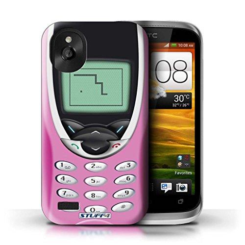 Kobalt® Imprimé Etui / Coque pour HTC Desire X / Nokia 3310 rose conception / Série Portables rétro Nokia 8210 rose