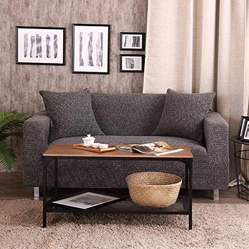 YLCJ Sofabezug/Gestrickter Sofabezug Einfarbig/Universeller All-Inclusive elastischer Sofabezug/Rutschfester Stiefel (Farbe: B, Maße: 145x185 cm) - Gesteppte Stiefel