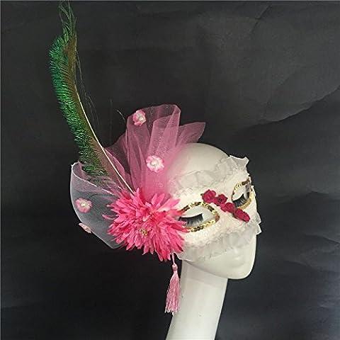 HUAXI Mano-su misura, lusso esagerato maschere di carnevale, maschera di spettacoli teatrali, mascherina del partito, festa maschera