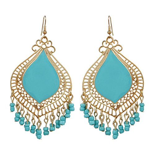 Awesome Wedding Theme Sea Blue Designer Earrings By Lazreena