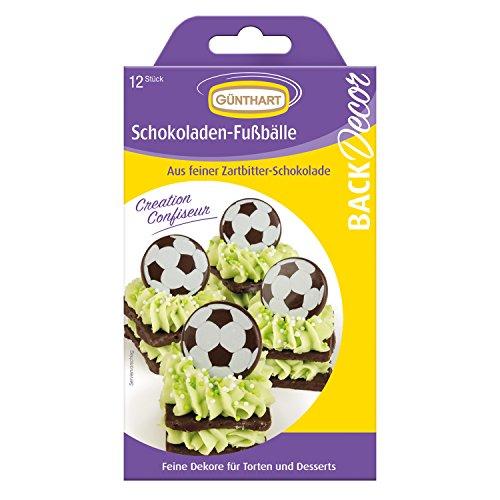 or Fußbälle aus Schokolade | Fußball | Cupcakes | Tortendeko | Schokoladendeko (Sport-themen-cupcakes)