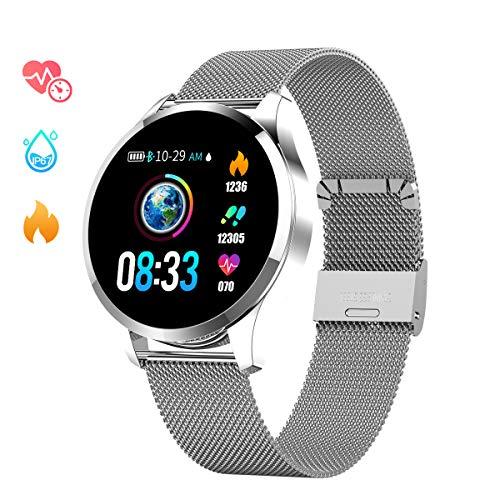 7cf98b7f2 Smartwatch Mujer Hombre, Impermeable Reloj Inteligente Elegante Monitores  de Actividad Impermeable IP67 con Monitor de