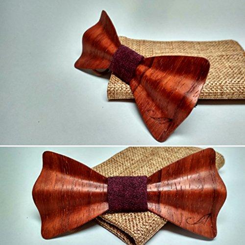 Pajarita de madera de Palo Rojo