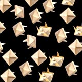 100X 8X8mm Metall DIY Pyramiden Nieten Ziernieten Gothic Golden Farbe NEU