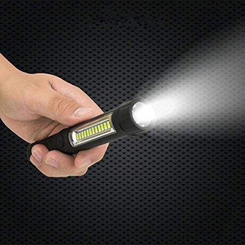 Magnetisch Auto Maschine Inspektion Tasche Taschenlampe, Siswong 1000LM Multifunction Tragbar COB Lampe Arbeitslicht Laternen Stirnlampe(Gitter COB) (Schlüsselanhänger-taschenlampe Energizer)