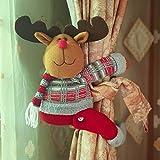 ARVIN87LYLY Christmas morsetto gancio di fissaggio tenda fibbia fibbie tende finestra tenda fermatenda forniture Babbo Natale regali di Natale tenda decorazione, Christmas curtain buckle elk