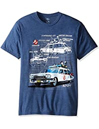 Ghostbusters Ecto Scheme Mens Heather Blue T-Shirt