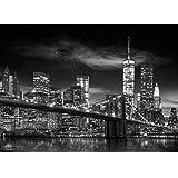Set: Nueva York, Freedom Tower B&w Póster (136x96 cm) con 1x Póster De Colección 1art1®