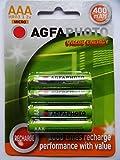 AGFA Wiederaufladbare AAA-Batterien 400mAh