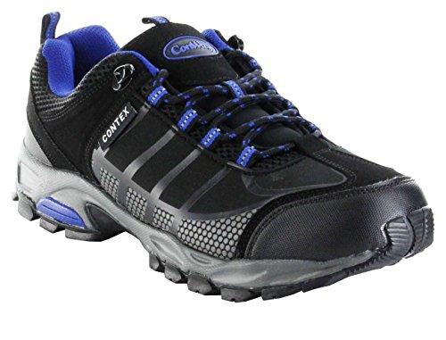 ConWay Sportschuhe schwarz blau Softshell CONTEX Herren Outdoor Schuhe Golf, Größe:43, Farbe:schwarz -