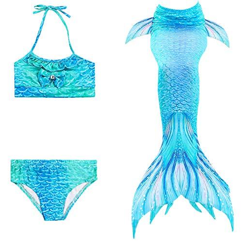 Meerjungfrau Flosse Zum Schwimmen Flossen Für Mädchen Kinder Mit Bikini Kind Meerjungfrau Badeanzug