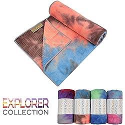 Yogabum Explorador Colección antideslizante Yoga Mat Toallas (Amazon River)