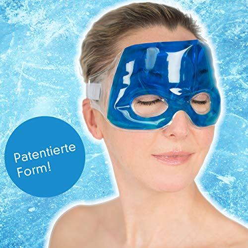 Travelstar Premium Augenmaske für Kälte- & Wärmetherapie bei Migräne & Kopfschmerzen inkl. Kühlkissen (TS-C-2000)