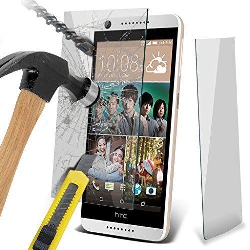 Étui pour HTC Desire 626 / HTC Desire 626 E5603, E5606, E5653 Titulaire de téléphone Case voiture universel Mont Cradle Tableau de bord et pare-brise pour iPhone yi -Tronixs TempeRed + Glass (1 Pack)