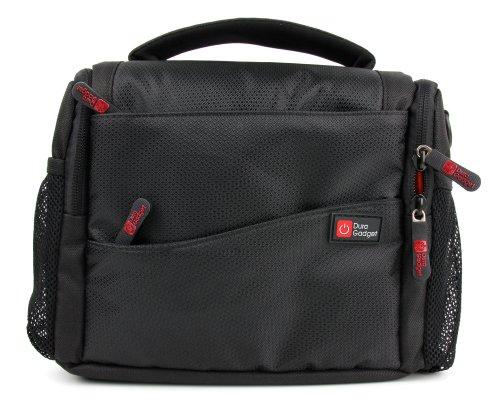 DuraGadget - Tasche in 3 Tragevarianten - Schultertasche | Gürteltasche | Tragetasche für Ihren Sony FDR-AX33 4K Camcorder