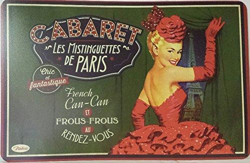 Natives cabaret les mistiguettes de paris - tovaglietta americana stile retrò vintage, 43,5x 28,5x 2cm