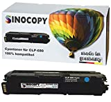 SinoCopy XXL Cyan Toner für Samsung CLP-680 C 3.500 Seiten S., kompatibel zu Samsung CLP-680 DW ND Series CLX-6260 FD FR FW ND - CLT-K506L C506L M506L Y506L