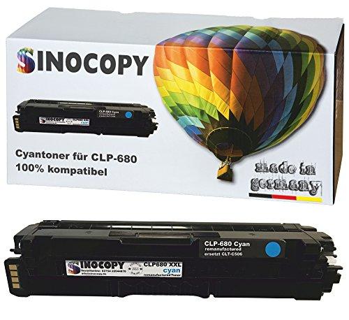 Preisvergleich Produktbild SinoCopy XXL Cyan Toner für Samsung CLP-680 C 3.500 Seiten S., kompatibel zu Samsung CLP-680 DW ND Series CLX-6260 FD FR FW ND - CLT-K506L C506L M506L Y506L