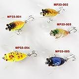 Soytich Esche artificiali CICALE Imitation, 4Cm Lungo, galleggianti. per trote pesce persico fisch-mp33 - MP33-003
