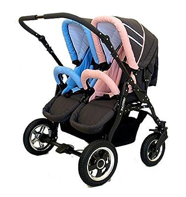Carro gemelar 2en1. Capazos + sillas + accesorios. Desde nacimiento hasta los 3 años. Freestyle BBtwin duo cochecito doble