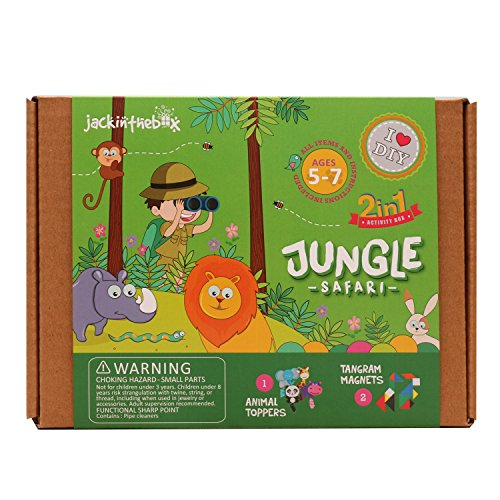 JackInTheBox - Best gift for kids - Jungle Safari 2-in-1 Craft Kit -  Ages 5 to 8 years