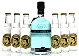Gin & Tonic Set - The London No. 1 Original Blue Gin (1 x 0,7L) mit Thomas Henry Tonic Water (6 x 0,2L)