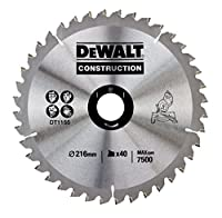 DeWalt DT1155QZ 216 x 30mm x 40-Tooth Circular Saw Blade Construction