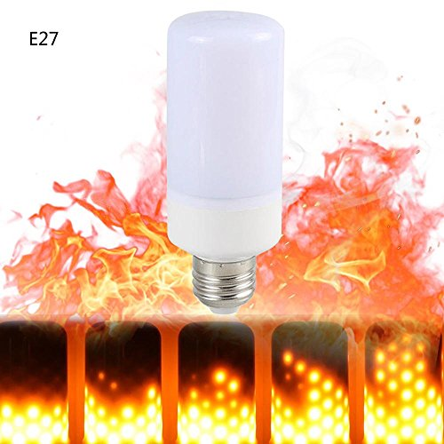 Bombillas LED de Llama, Umiwe E27 LED Flame Efecto Parpadeo Llama Fuego Lampara con 3 Modos de Iluminación para Barras de Vacaciones Hotel Salón Dormitorio Decoración Del Hogar Restaurantes