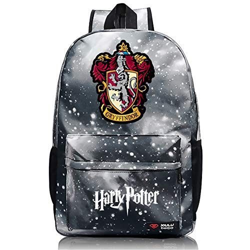 Enjoyfeel Zaino, Harry Potter Bag, Scuola di Magia di Hogwarts e Bookbag della Scuola della Magia (Starry Grey Lion)