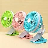 Toy4Pick Rechargeable USB Fan, Quiet 4 Blades Desktop Mini Portable Air Cooling Fan Portable Desktop USB Fan On A Strap With Clamp