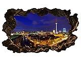 3D Wandtattoo Berlin Skyline Stadt Wandbild Wandsticker selbstklebend Wandmotiv Wohnzimmer Wand Aufkleber 11E598, Wandbild Größe E:ca. 168cmx98cm