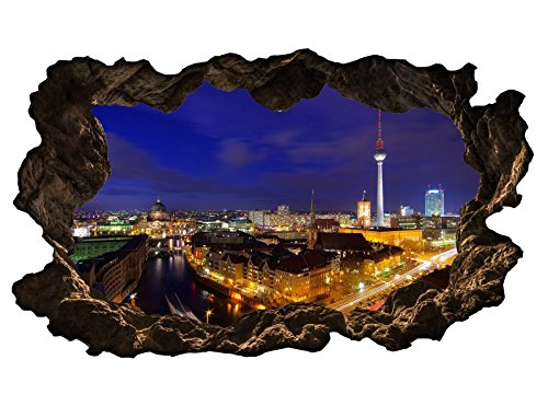 3D Wandtattoo Berlin Skyline Stadt Wandbild Wandsticker selbstklebend Wandmotiv Wohnzimmer Wand Aufkleber 11E598