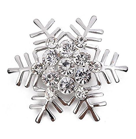 Hosaire 1X Brooch Zarte Schneeflocke Form Design Broschen Brosche Strass Kleider Zubehör Anzug Weihnachten Weihnachtsschmuck (Große Weihnachts-elfen)
