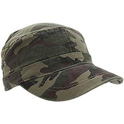 Gorra estilo cadete con estampado de camuflaje para hombre (59cm/Camuflaje)
