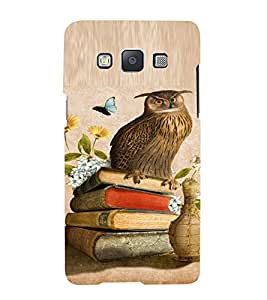 PrintVisa Girly Owl And Butterfly Design 3D Hard Polycarbonate Designer Back Case Cover for Samsung Galaxy A7