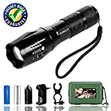 AUKELLY LED Torcia Potente Torcia LED Ricaricabile USB,Torce a LED,Tattico Torcia Wasserdicht,Torcia LED Militare 1000 Lumen,Ricaricabile Torcia,für Camping,con 18650 Batteria