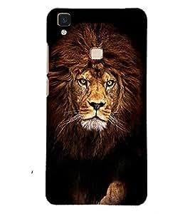 PRINTSOPPII LION Back Case Cover for Vivo V3 Max