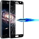 Tempered Glass 9H Full Cover Screen Protector For Samsung Galaxy S7 Edge - Black