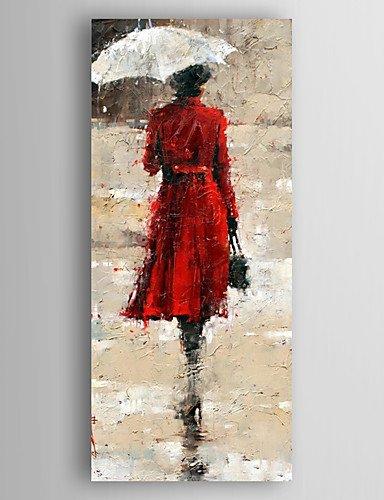 Florenz-panel (Handgemalte Abstrakt Menschen Vertikal,Modern Ein Panel Leinwand Hang-Ölgemälde For Haus Dekoration , 50cm*70cm)