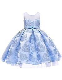 Palla da Sposa Ragazza Vestito da Ragazza Vestito da Bambina Vestito Lungo  da Sera Bambini festaioli 687c2d19281