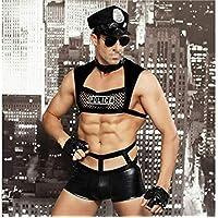 Yter Hombres Sexy Uniforme Tentación Bar Discoteca Cosplay Disfraz Ropa Interior erótica