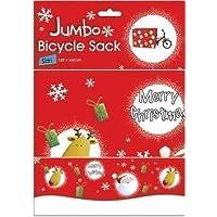 Jumbo Christmas Xmas Bicycle Bike Large Present Sack Wrap Bag 128cm x 100cm