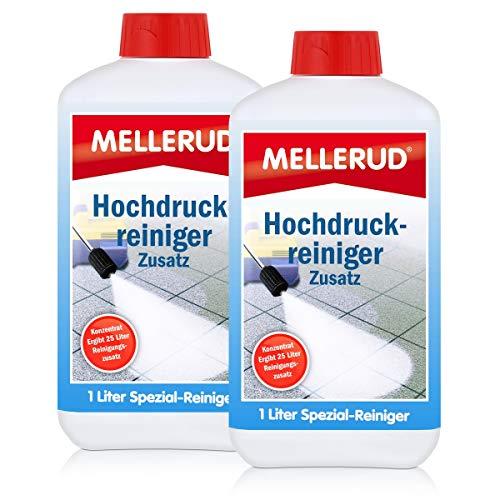 2x MELLERUD Hochdruck Reiniger Zusatz Konzentrat 1,0 L Set Dampfstrahler