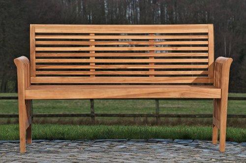 CLP solide Teak-Gartenbank ANGEL aus massivem Teakholz (aus bis zu 5 Größen wählen) 180x64x92 cm - 3