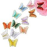 VINFUTUR 12 Toppa Termoadesiva Applique di Farfalla Assortiti per Cucito Rifiniture Abbellimenti Badge Embroidery Patch Sew Decorazione Giacche Abiti Jeans abbigliamento